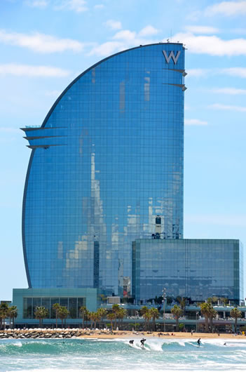 photo of the W Barcelona